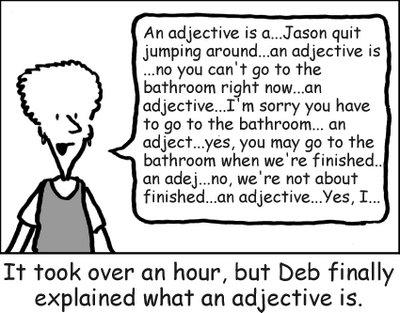 Adjective cartoon