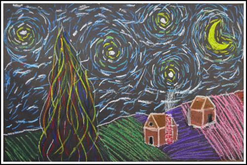Sophia - Van Gogh Unit Starry Night