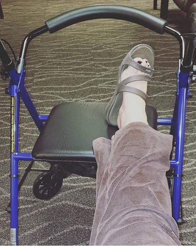 Mom's New Wheeled Walker