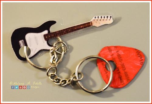 Guitar Pick Keyring