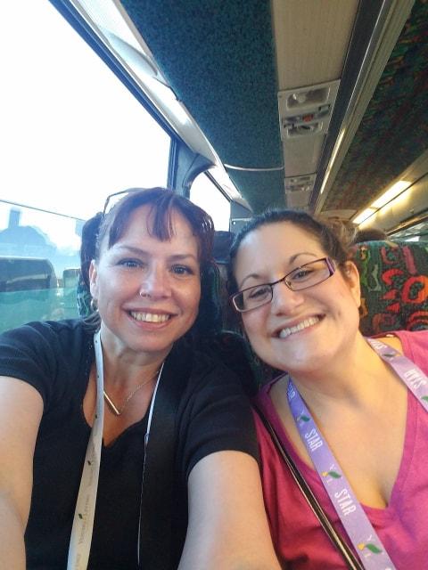Shana & Melanie on the autobus