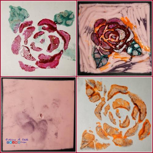 Rose Stamp Collage