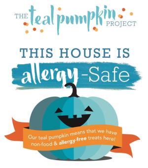 Allergy safe teal pumpkin