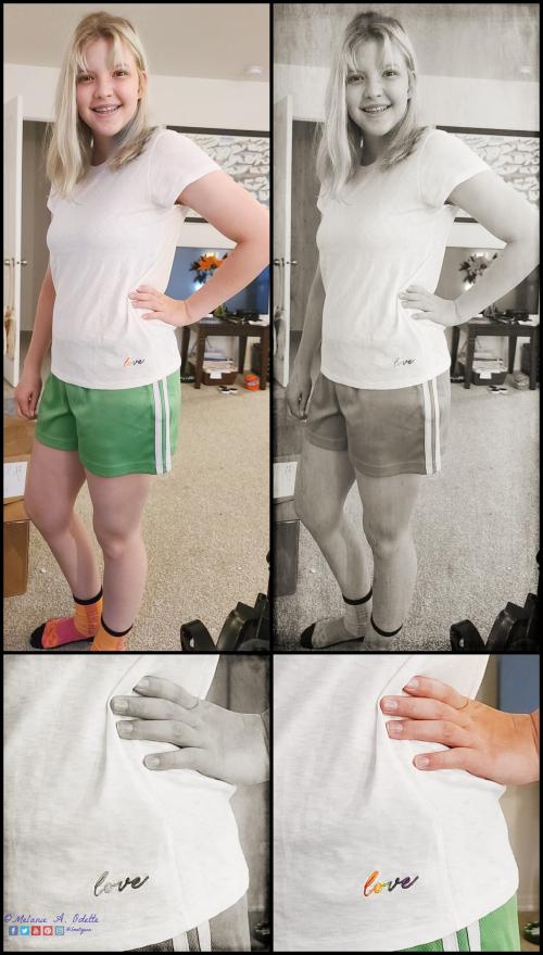 08072020 Sophia White Love Shirt collage