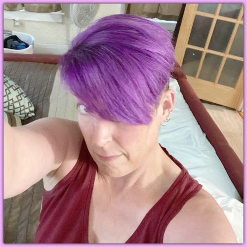10172020 Stacey Purple Hair